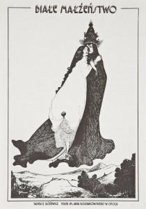 Białe małżeństwo, reżyseria Marcin Jarnuszkiewicz, Teatr im. Jana Kochanowskiego w Opolu, [1979] r. (plakat)