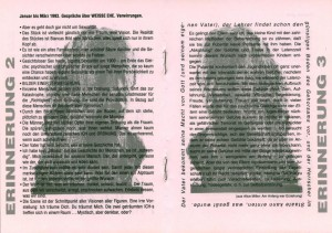 Program sztuki T. Różewicza pt. Weisse Ehe (Białe małżeństwo) Rekonstruktion Verlorener Bilder, Theater Junge Generation, 1993 r.