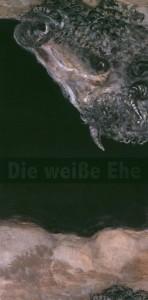 Ulotka informująca o premierze sztuki pt. Die Weisse Ehe (Białe małżeństwo), reżyseria Janina Szarek, Teatr Studio am Salzufer – polsko-niemiecka scena w Berlinie – deutsch-polnische Studiobühne in der Bundeshauptstadt, oprac. graf.: Andre Putzmann, Berlin 2004 r. (awers)