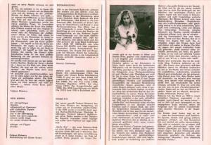 Program sztuki Weisse Ehe (Białe małżeństwo) T. Różewicza, Kleisttheater, Frankfurt (Oder) [1985] r.