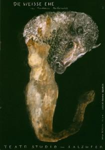 Okładka programu sztuki pt. Die Weisse Ehe (Białe małżeństwo) von Tadeusz Różewicz, reżyseria Janina Szarek, Teatr Studio am Salzufer – polsko-niemiecka scena w Berlinie – deutsch-polnische Studiobühne in der Bundeshauptstadt, autor okładki: Andre Putzmann, Berlin 2004 r.