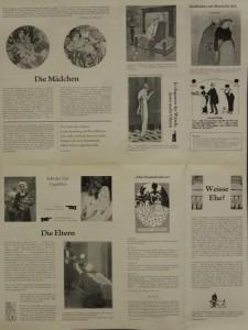 Weisse Ehe (Białe małżeństwo) - program wydany z okazji premiery sztuki T. Różewicza w Niemieckiej Republice Demokratycznej, reżyseria Martin Meltke i Herbert Olschok, Theater Rudolstadt, 1978 r. (rewers)