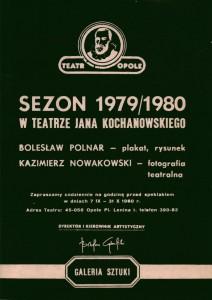 Sezon 1979/1980 w Teatrze Jana Kochanowskiego - okładka kroniki, Opole 1980 r.