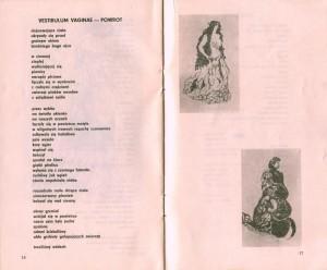 Fragment program sztuki pt. Białe małżeństwo T. Różewicza, w reżyserii Kazimierza Brauna, Teatr Współczesny we Wrocławiu, 1975 r.