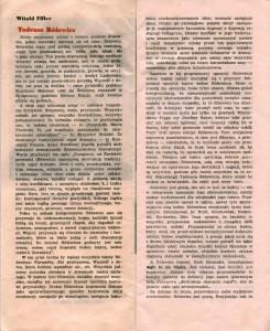 Program sztuki Tadeusza Różewicza pt. Białe małżeństwo, w reżyserii Ryszarda Majora, wydany z okazji premiery w gdańskim Teatrze Wybrzeże, 1976 r.