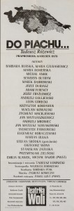 Do piachu… , reżyseria Tadeusz Łomnicki, Teatr na Woli w Warszawie, 1979 r. (afisz)
