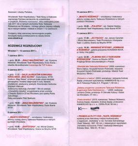 Repertuar zamieszczony w informatorze projektu pt. Różewicz rozrzucony wrocławskiego Teatru Współczesnego i krakowskiego Teatru Nowego, realizowanego w ramach obchodów Roku Tadeusza Różewicza, 2011 r.