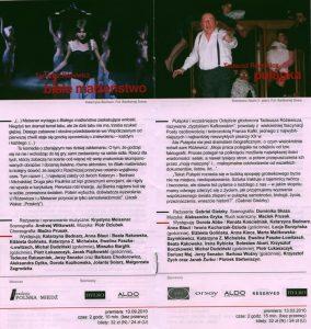 Sztuka pt. Białe małżeństwo T. Różewicza, w reżyserii Krystyny Meissner, w informatorze projektu pt. Różewicz rozrzucony wrocławskiego Teatru Współczesnego i krakowskiego Teatru Nowego, realizowanego w ramach obchodów Roku Tadeusza Różewicza, 2011 r.