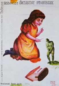Śmieszny staruszek, Wrocławski Teatr Lalek, aut. plakatu: Eugeniusz Get Stankiewicz, 2001 r.