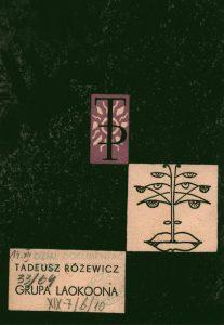 Okładka programu sztuki T. Różewicza pt. Grupa Laokoona, reżyseria Wanda Laskowska, Państwowy Teatr Dramatyczny we Wrocławiu (Scena Kameralna), oprac. graf.: Wanda Gołkowska, Wrocław 1963 r.