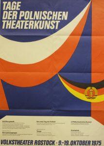 Die Laokoongruppe (Grupa Laokoona) Tadeusza Różewicza, w reżyserii Zbigniewa Bogdańskiego, na Dniach Polskiej Sztuki Teatralnej (Tage der Polnischen Theaterkunst), Volkstheater Rostock, 1975 r. (plakat)