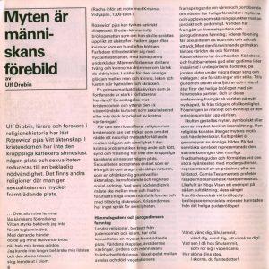 Recenzja sztuki Tadeusza Różewicza pt. Vitt äktenskap (Białe małżeństwo) w szwedzkim miesięczniku Dramaten 56, 1976 r.