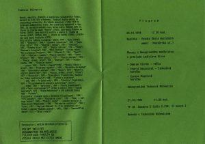 Tadeusz Różewicz v Bratislave – zaproszenie na przedstawienie pt. Obrazy z Nenaplneného manželstwa (Białe małżeństwo), w reżyserii Damiana Kiereka, oraz dyskusję z autorem sztuki, Vysoka škola múzických umení v Bratislave, 1994 r.