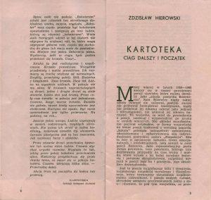 Program sztuki pt. Kartoteka Tadeusza Różewicza, w reżyserii Jana Klemensa, Państwowy Teatr Śląski im. St. Wyspiańskiego w Katowicach, 1965 r.