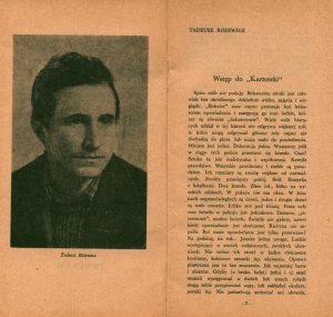 Program premierowego przedstawienia sztuki pt. Kartoteka Tadeusza Różewicza, wystawianej na deskach Teatru Dramatycznego w Warszawie, w reżyserii Wandy Laskowskiej, 1960 r.
