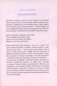 Program sztuki pt. Kartoteka Tadeusza Różewicza, w reżyserii Kazimierza Kutza, Teatr Narodowy (sala Bogusławskiego), oprac. graf.: Janusz Górski, Warszawa 1999 r.