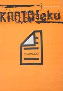 Kartoteka, reżyseria Michał Zadara, Wrocławski Teatr Współczesny, 2006 r. (plakat)