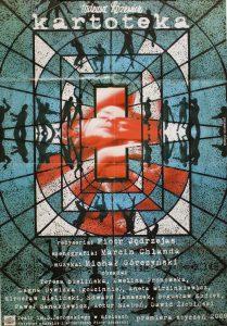 Kartoteka, reżyseria Piotr Jędrzejas, Teatr im. S. Żeromskiego w Kielcach, proj. graf.: Marcin Chlanda, 2009 r. (plakat)