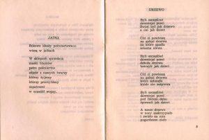 Wiersze Tadeusza Różewicza zamieszczone w programie sztuki pt. Kartoteka, w reżyserii Janusza Kozłowskiego, Państwowy Teatr Dolnośląski w Jeleniej Górze, 1972 r.