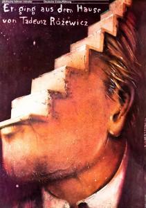 Er ging aus dem Hause (Wyszedł z domu), Deutsche Erstaufführung, aut. plakatu: Jerzy Czerniawski, Münster 1978 r.