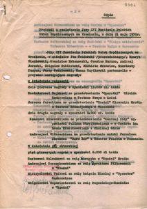 Protokół z posiedzenia Jury XVI Festiwalu Polskich Sztuk Współczesnych we Wrocławiu, 1975 r. (pierwsza strona)
