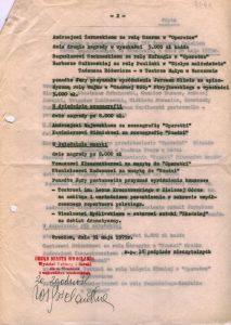 Jedna z dwóch drugich nagród, dla najlepszego aktora XVI Festiwalu Polskich Sztuk Współczesnych, przyznana została, decyzją festiwalowego jury, Barbarze Sułkowskiej – aktorce Teatru Małego (sceny Teatru Narodowego) za rolę Pauliny w sztuce Tadeusza Różewicza pt. Białe małżeństwo (reżyseria Tadeusz Minc), 1975 r. (druga strona protokołu)