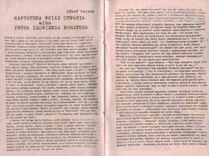 Fragment programu do sztuki Tadeusza Różewicza pt. Kartoteka, reżyseria Tadeusz Minc, Teatr Polski (Scena Kameralna), Wrocław 1977 r.