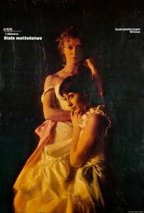 Białe małżeństwo, 400 przedstawienie, reżyseria Kazimierz Braun, Teatr Współczesny we Wrocławiu, aut. fotografii Jan Bortkiewicz, 1979 r. (plakat)