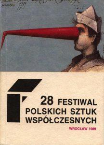 Okładka informatora 28 Festiwalu Polskich Sztuk Współczesnych, Wrocław 1989 r.