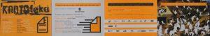 Obsada aktorska i informacje o spektaklu w program sztuki pt. Kartoteka Tadeusza Różewicza w reżyserii Michała Zadara, Wrocławski Teatr Współczesny, projekt graficzny programu: Robert Rumas, Ania Witkowska, 2006 r. [rewers; w formie harmonijki z 3 złożeniami]