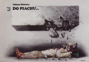 Do piachu…, reżyseria Tadeusz Łomnicki, Teatr na Woli w Warszawie, aut. plakatu: Jan Jaromir Aleksiun, 1979 r.
