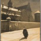 Stanisław I.Fabijański, Klasztor Bernardynów we Lwowie, akwarela, tusz, 1909 (Gabinet Grafiki)