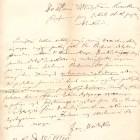 List Jana Matejki do prof. Władysława Łuszczkiewicza, 1875 (Dz.Rękopisów)
