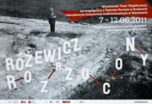 Różewicz rozrzucony: projekt realizowany w ramach obchodów Roku Różewicza we Wrocławiu, proj. graf. Adam Hawałej, 2011 r. (plakat)