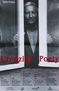 Urodziny Poety, aut. fot. Friedrich Brigitte, Teatr Polski we Wrocławiu, 2001 r. (plakat) [zawiera program]