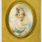 Jean Baptiste Isabey (1767-1855),  Ludwika z Rzewuskich Lanckorońska (1774-1839), 1814 akwarela, papier, 13,9 x 10,4 cm