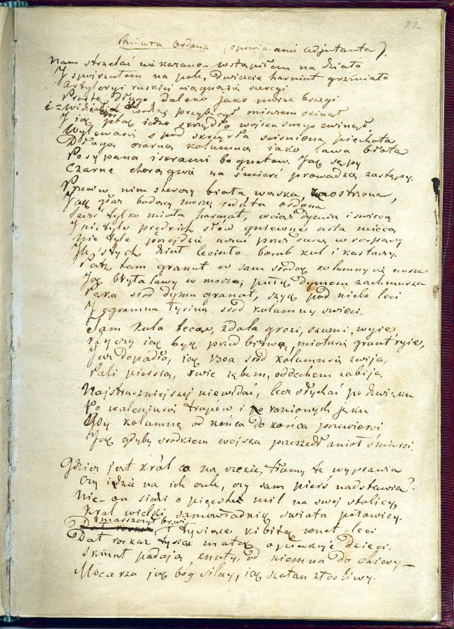 Rekopis A Mickiewiczareduta Ordona