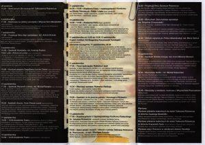 Wieczór z poezją Tadeusza Różewicza pt. Rozrzucone..., na którym Wiesław Komasa, aktor filmowy i teatralny, interpretować będzie fragmenty Kartoteki rozrzuconej i wybrane wiersze poety, Różewicz Open Festiwal 2013, zorganizowany przez Miejski Dom Kultury w Radomsku. [program w formie harmonijki z dwoma złożeniami]