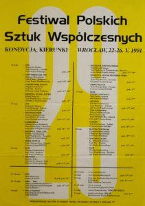 Drugi dzień sesji teatrologicznej, odbywającej się w ramach 29 Festiwalu Polskich Sztuk Współczesnych, w całości poświęcono zagadnieniu pt. Różewicz na niemieckim obszarze językowym, Wrocław 1991 r. (afisz)