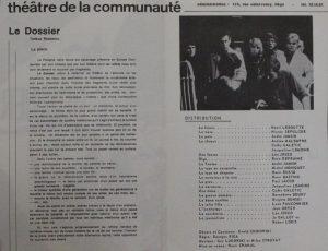 Le Dossier Tadeuz Rosewicz (Kartoteka Tadeusza Różewicza), reżyseria Henri Chanal, Théâtre de la Communauté, [Seraing, 1964-1968 r.]