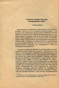 Strona tytułowa artykułu Renate Lachmann pt. Lomonosovs inventio-Lehre unter textpragmatischem Aspekt, opublikowanego w Die Welt der Slaven. Halbjahresschrift für Slavistik (rocznik XXI, zeszyt 2), Köln-Wien 1976 (na okładce znajduje się adnotacja autorki artykułu, ołówkiem: −› publ. 1979)