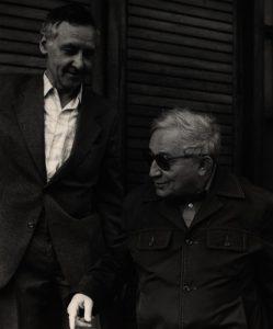 Tadeusz Różewicz i Ignacy Rutkiewicz, aut. fot. Tadeusz Drankowski, 1988 r.