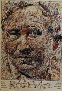 Tadeusz Różewicz, Galeria Teatru Nowego Warszawa. Plakaty z kolekcji Krzysztofa Dydo, aut. plakatu Waldemar Świerzy, [1984] r.