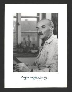 Eugeniusz Geppert w swojej pracowni, fot. Z. Huber, Dział Sztuki, I.f. 19255